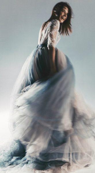 Пышное платье серо-голубых оттенков North Falls