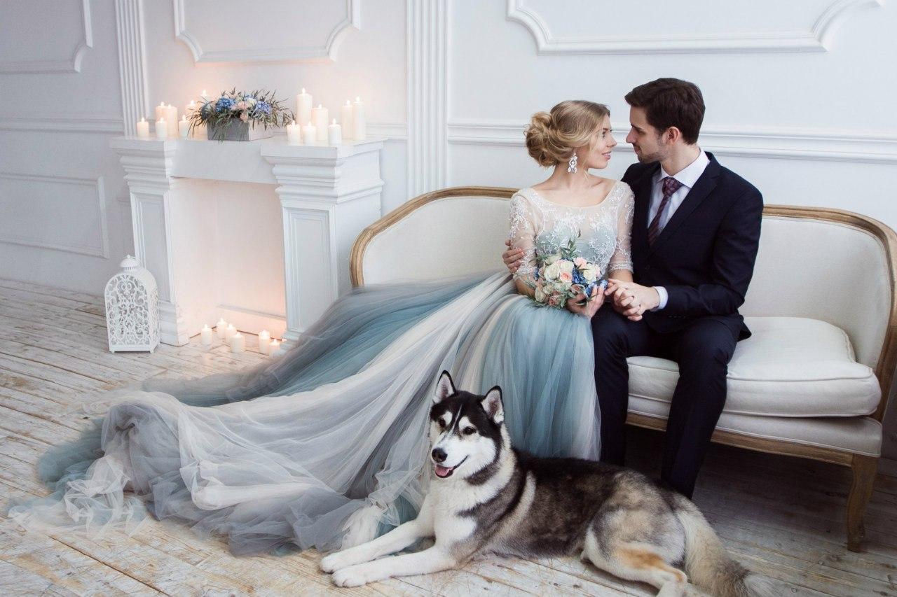 Фотосессия в студии с мужем