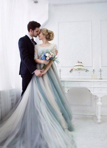Свадебная фотосессия в платье с мужем