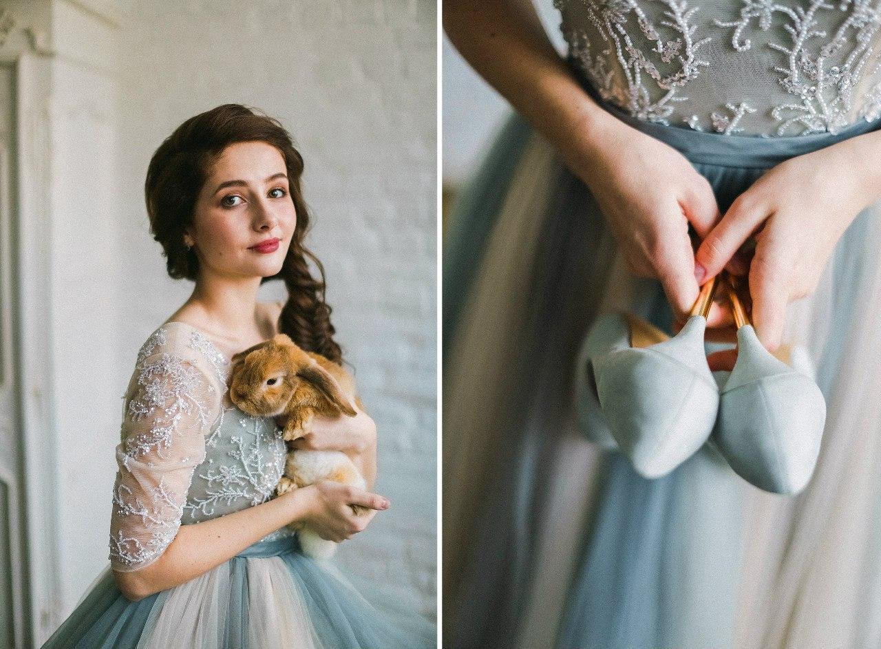 Платье в балетном стиле с пышной юбкой