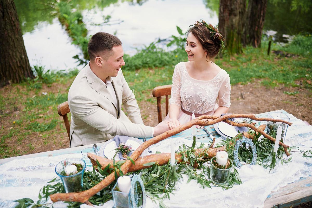 Романтичное легкое платье невесты