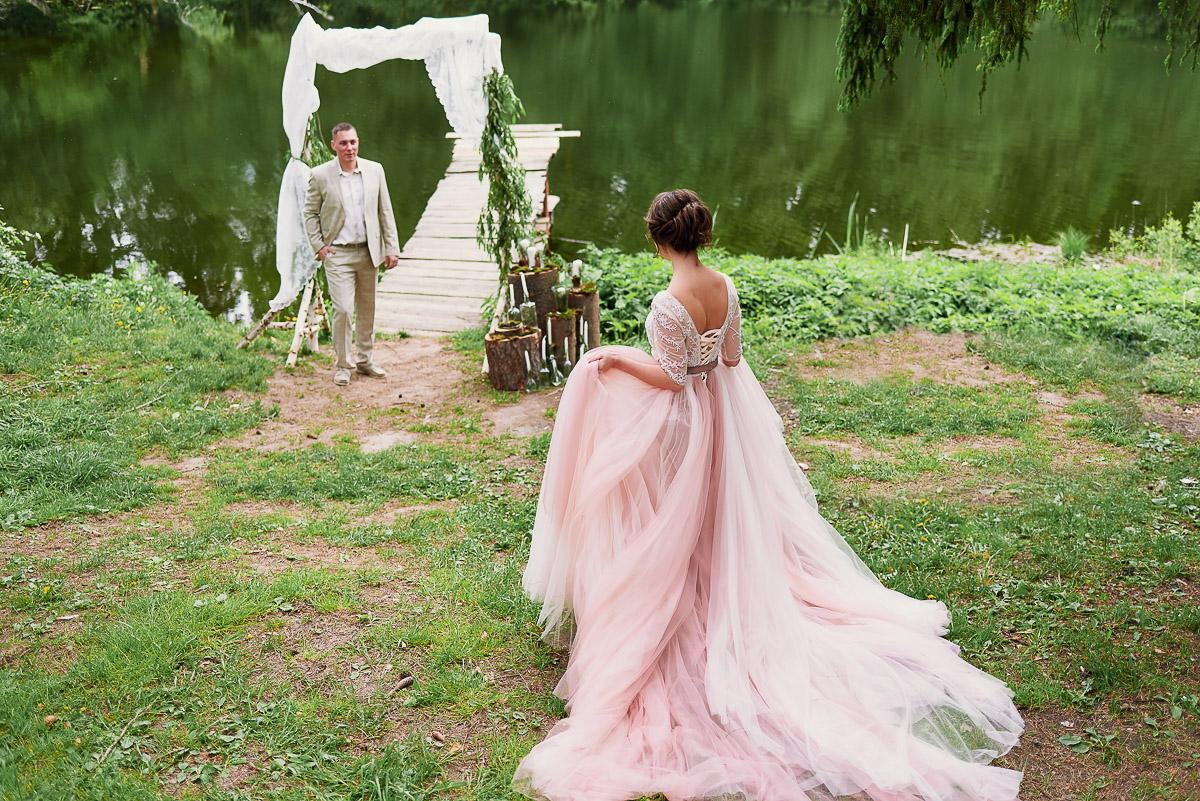 Пышное платье в нежно-розовых тонах для настоящих королев