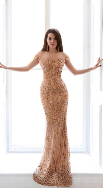 Вечернее платье напрокат Sunshine Gold