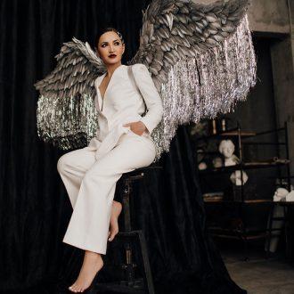 Серебряные крылья ангела WG-05