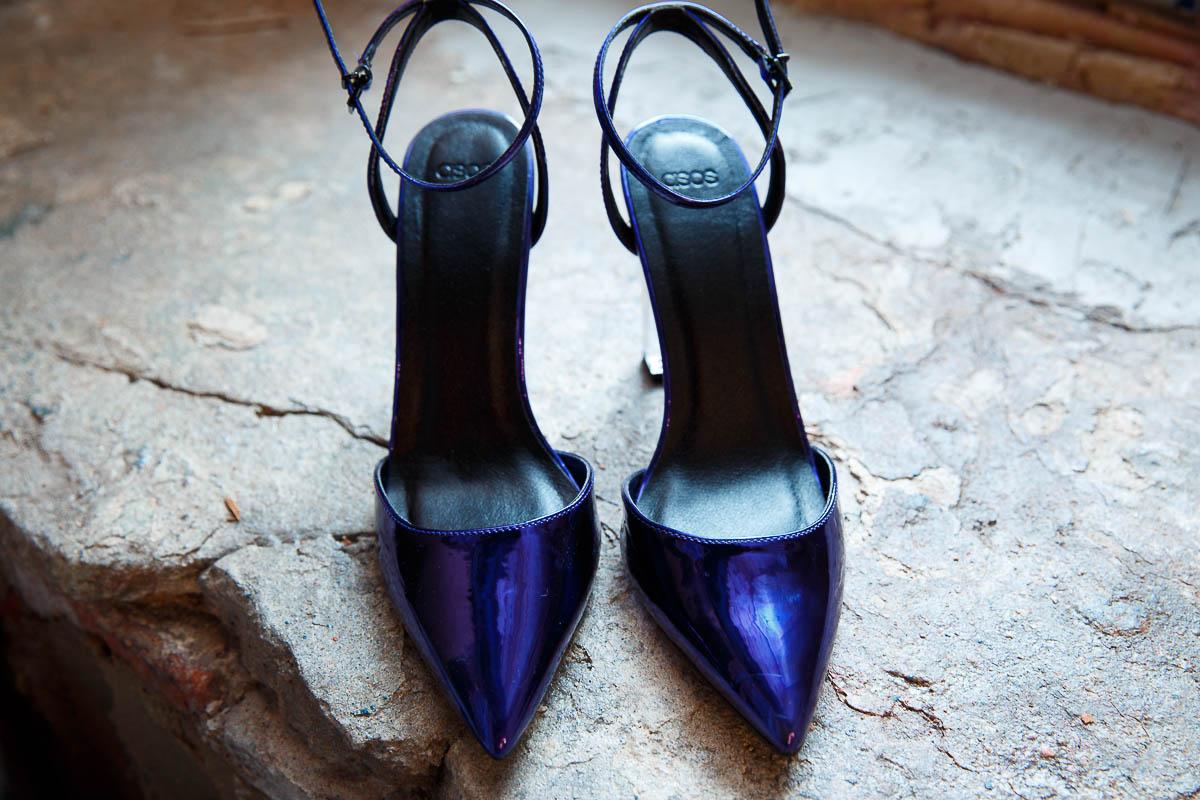 Туфли цвета индиго F-05