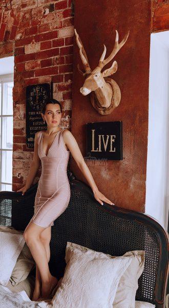 Бандажное платье с эффектом супер утяжки