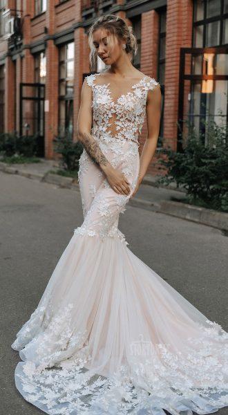 Свадебное платье-русалка Cleo
