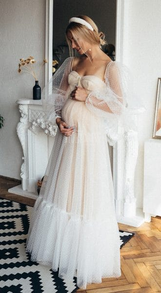 Свадебное платье для беременных Creme De Nude