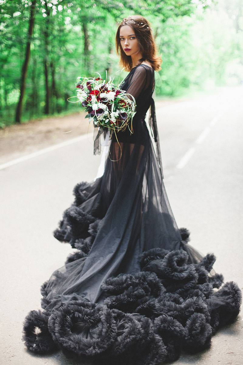 Платье облако фантом для роковой красотки