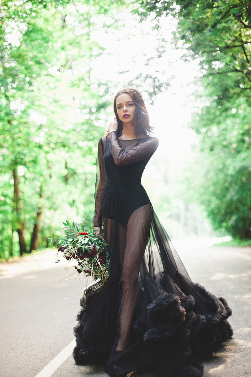 Фотосессия в неземном воздушном платье