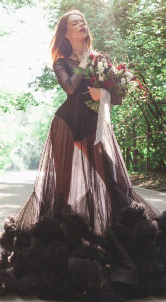 Прозрачное платье облако Phantom Black Cloud