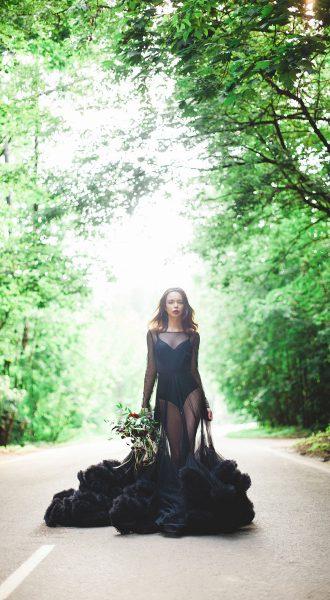 Прозрачное черное платье-облако Москва