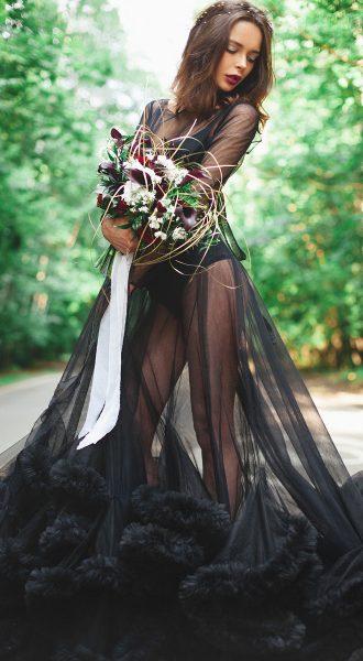 Прозрачное платье облако