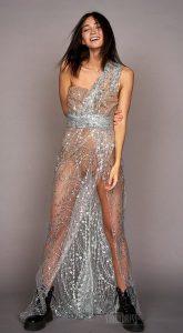 Прозрачное платье c драпировкой Taylor Bloops
