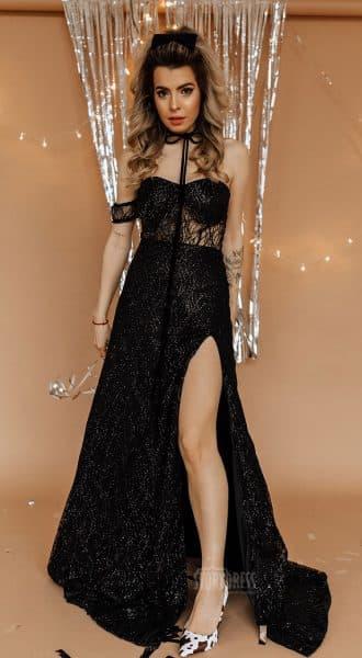 Полупрозрачное вечернее платье Carolina