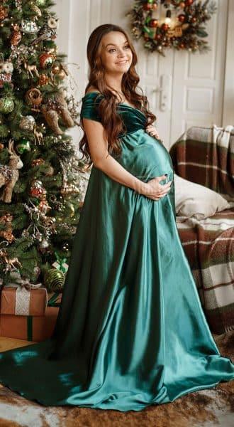 Зелёное вечернее платье Charlotte