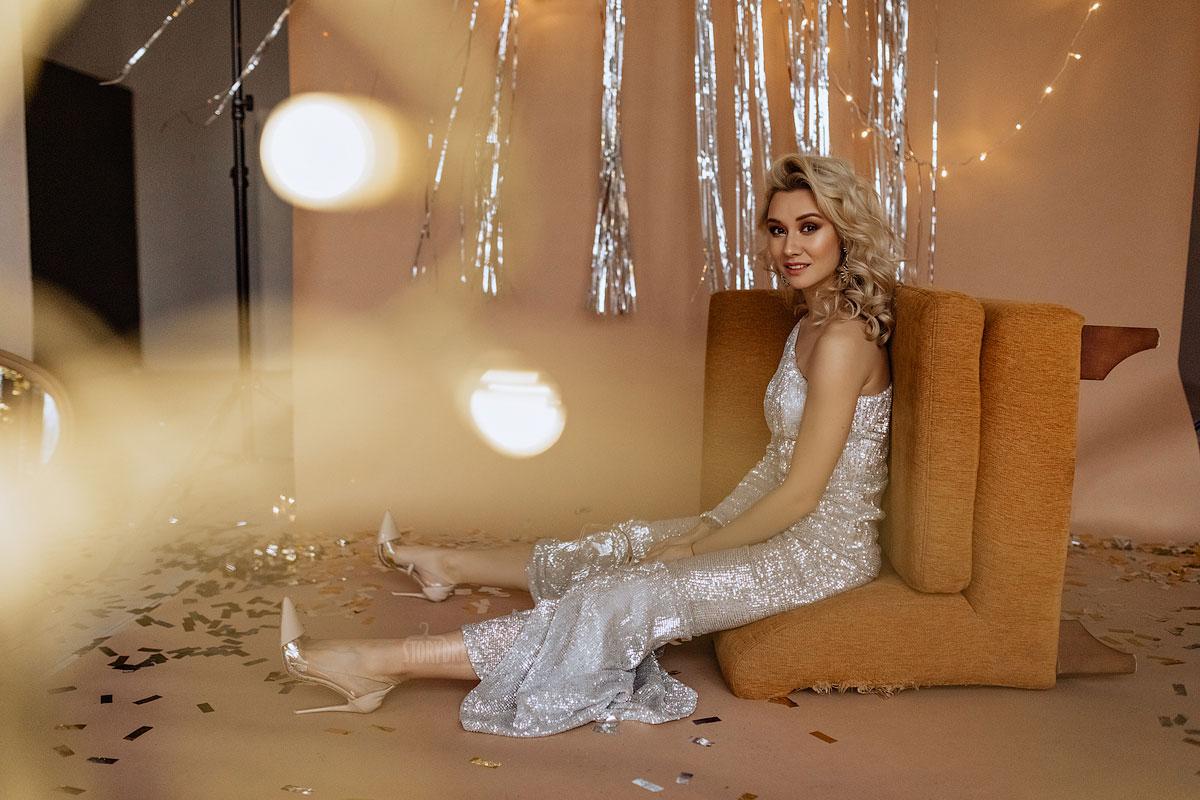 Платье с асимметричным топом Kylie
