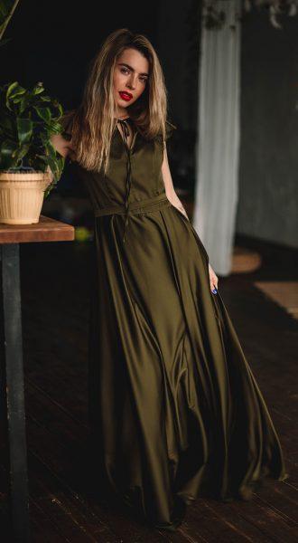 Зеленое вечернее платье Mary