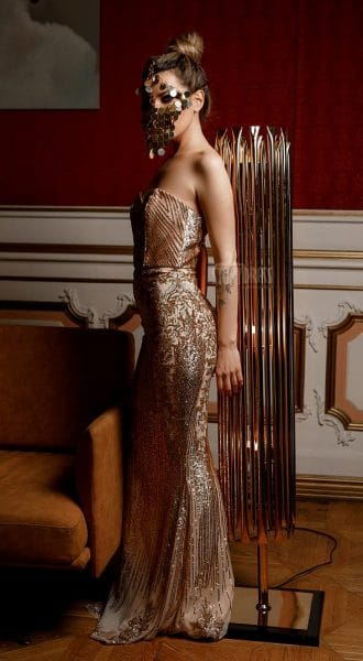 Вечернее платье-бандо Sandra
