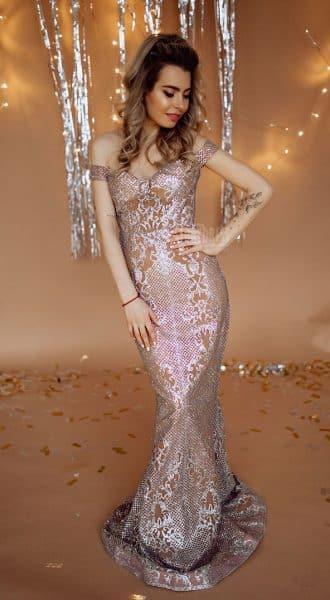 Вечернее платье с узором Sunshine Silver