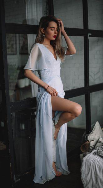 Платье из легкого шифона Teia