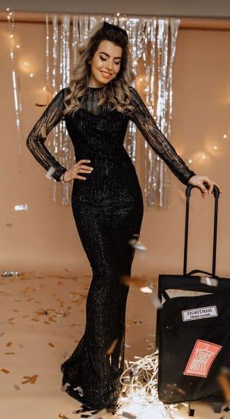 Черное вечернее платье Luxury Booze 10