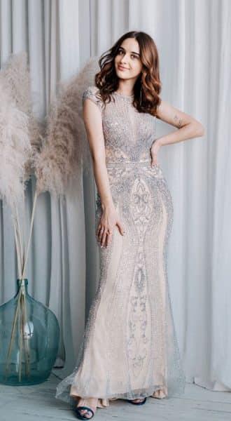 Вечернее платье расшитое бисером Mandy
