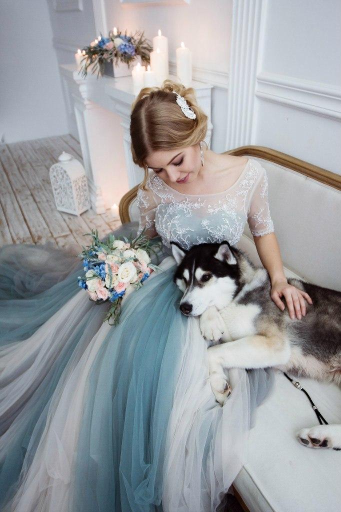 Свадебная фотосессия с собаками