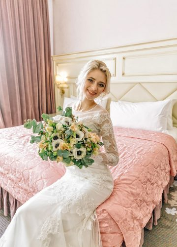 Платье силуэта рыбка для хрупкой невесты