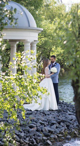 Свадебное платье с изящным топом