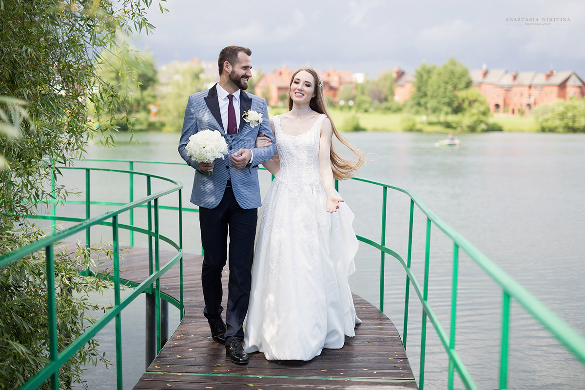 Нежное и романтичное свадебное платье для фотосессий