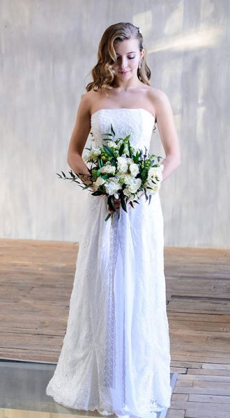 Свадебное платье расшитое бисером