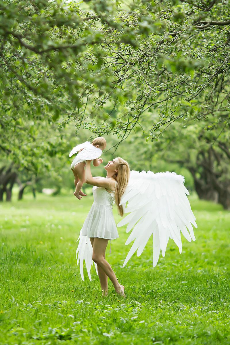 Ангельские крылья для земной фотосессии