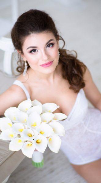 Обтягивающее боди в белом цвете